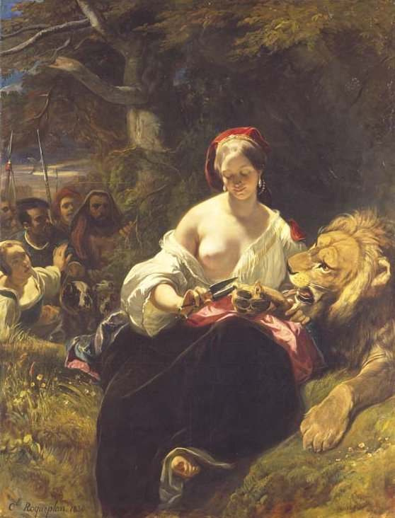 The Lion in Love by Roqueplan (1836)