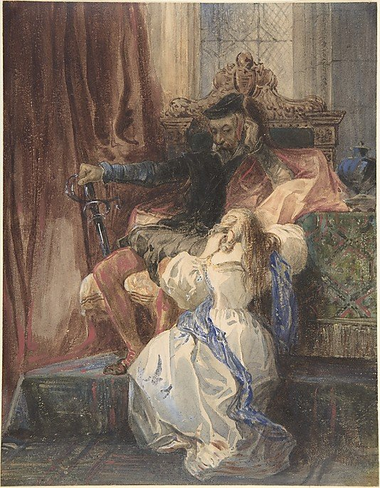 he Pardon Refused by Camille-Joseph-Étienjne Roqueplan (c.1829)