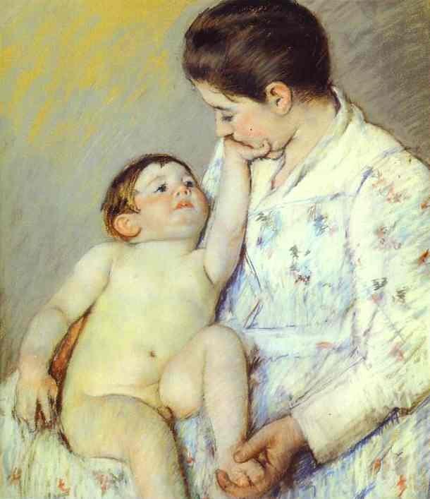 Baby's First Caress by Mary Cassatt (1891)