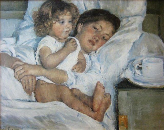 Breakfast in Bed by Mary Cassatt (1897)