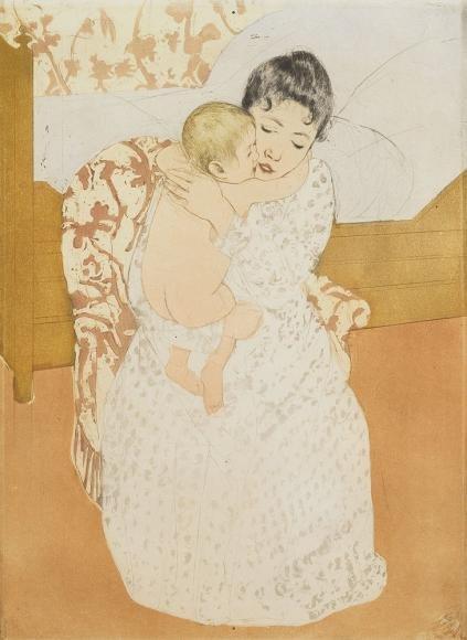 Maternal Caress by Mary Cassatt (1891)