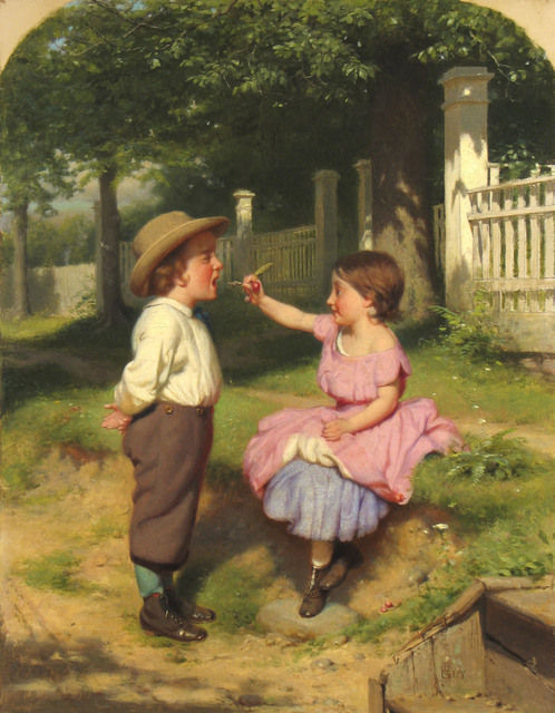Open Your Mouth and Shut Your Eyes by Seymour Joseph Guy (c.1863)