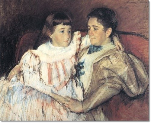 Portrait of Mrs. Havemeyer and Her Daughter Electra by Mary Cassatt (1895)