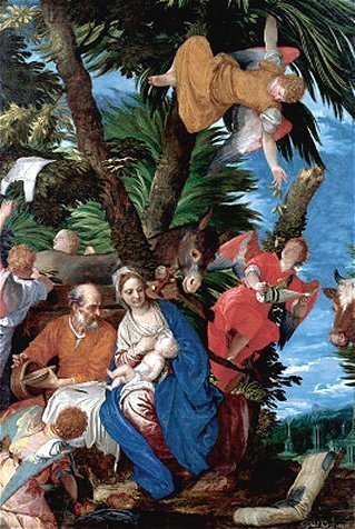 The Rest on the Flight into Egypt by Paolo Veronese (c. 1572)