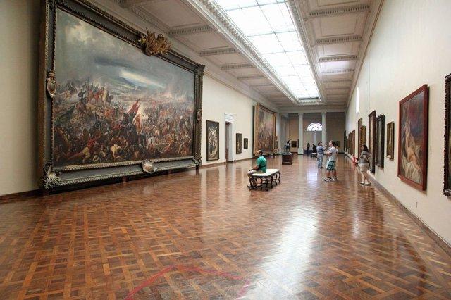 The two war paintings on display at the Museu Nacional de Belas Artes in Rio de Janeiro.