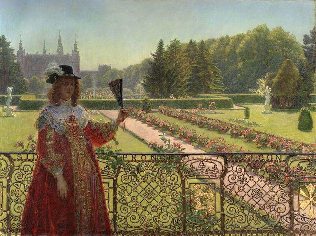 Leonora Christina dans le jardin du Palais Frederisborg par Kristian Zahrtmann (1887)