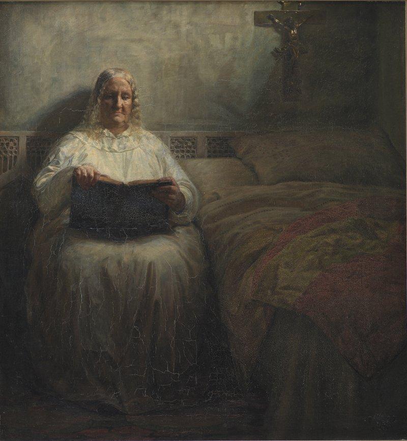 Leonora Christina paa Maribo Kloster (Leonora Christina at Maribo Cloister)  by Kristian Zahrtmann (1883)