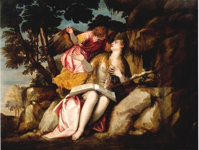 Mary Magdalen in the Wilderness by Veronese (c. 1585)
