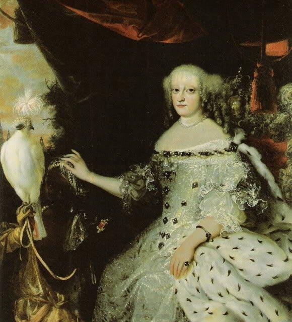 Sophie Amalie von Braunschweig-Lüneburg  with a slave by Abraham Wuchters (c.1670)