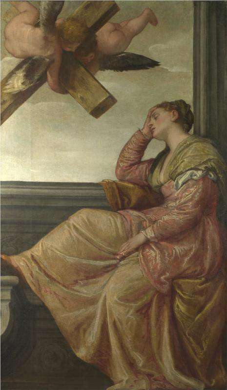 The Dream of Saint Helena by Veronese (c.1570)  National Gallery, London