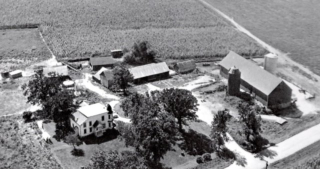The O'Keefe farmhouse. outside Sun Prairie, near Madison, Wisconsin