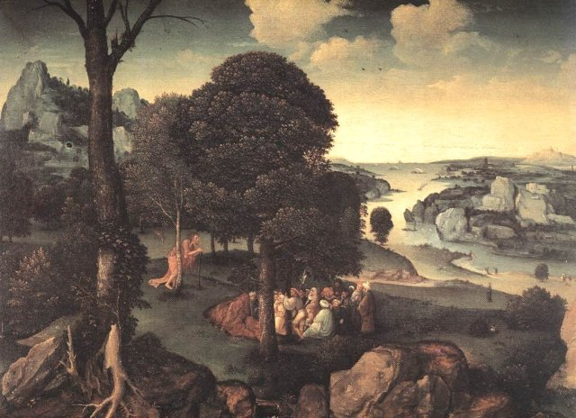 Landscape with Saint John the Baptist Preaching by Joachim Patinir