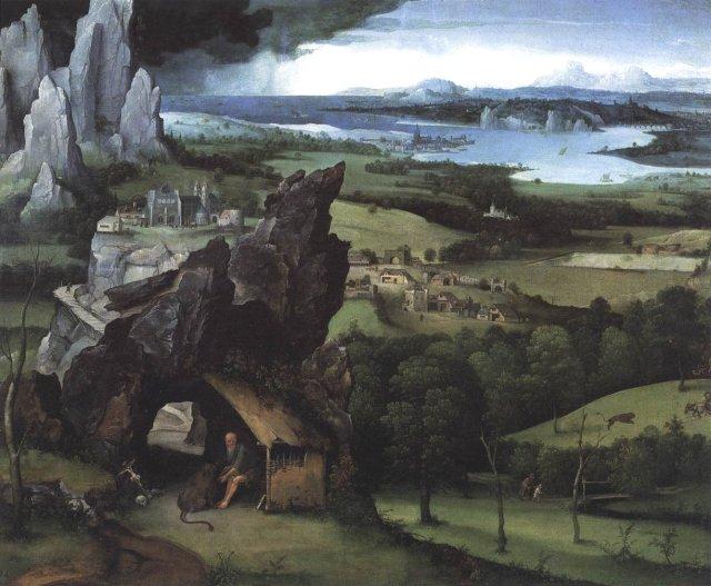 Landscape with St Jerome by Joachim Patinir (c. 1517)