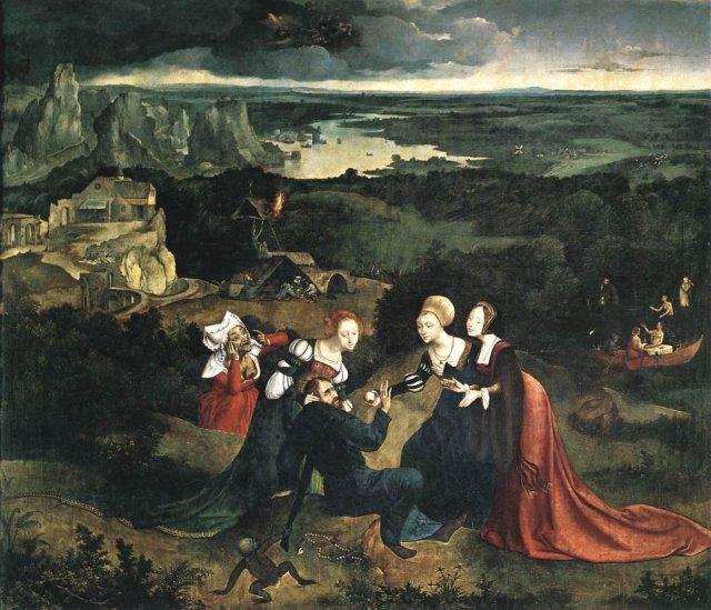 The Temptation of St Anthony by Joachim Patinir  (c. 1520-24)