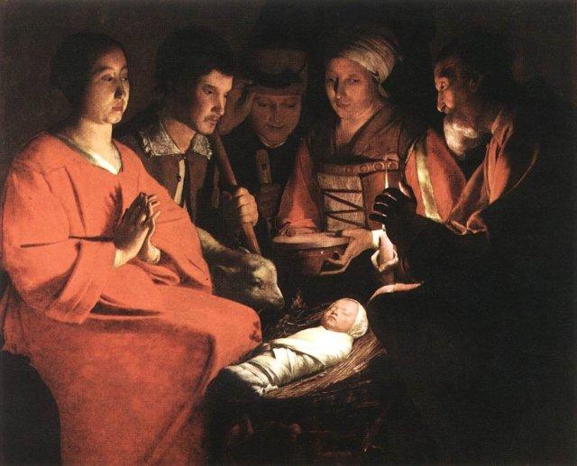 Adoration of the Shepherds by Georges de la Tour (1644)