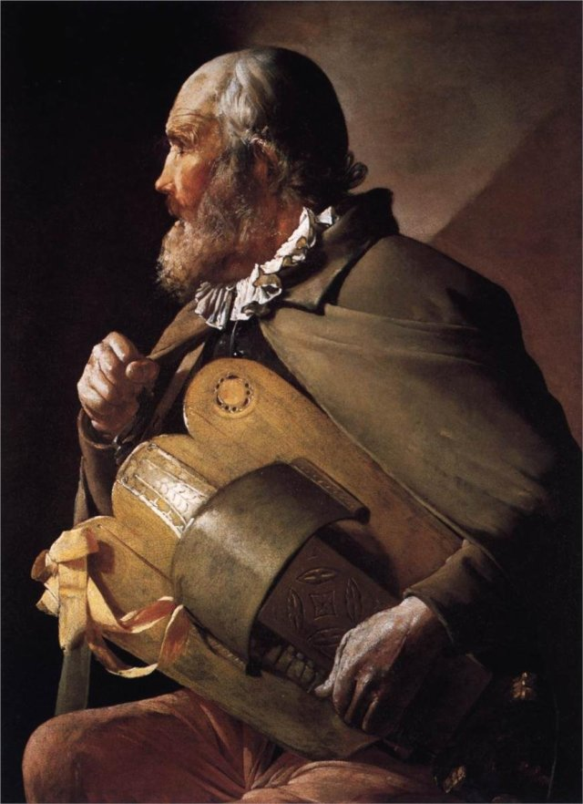 Blind Hurdy-Gurdy Man by Georges de la Tour (c.1630)