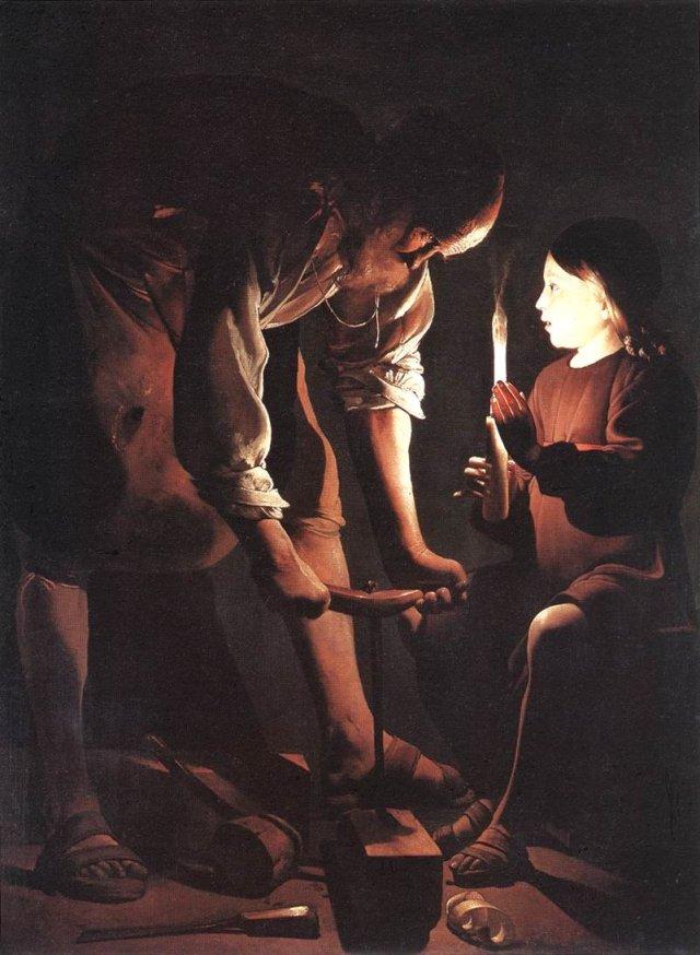 Christ in the Carpenter's Shop by Georges de la Tour (1645)