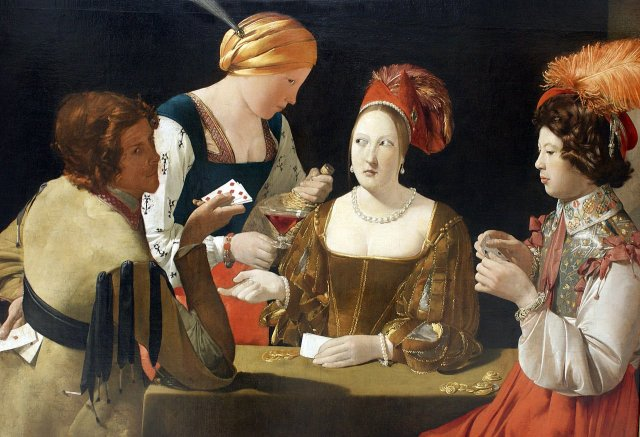 Le Tricheur à l'as de carreau or The Cheat with the Ace of Diamonds by Georges de la Tour (c. 1635)