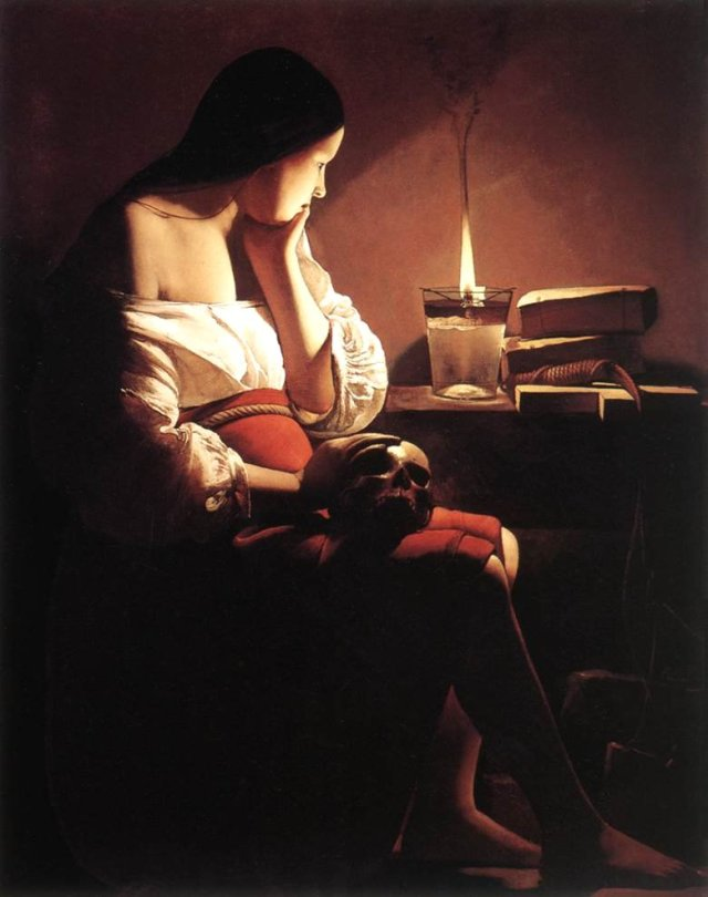 Magdalen with the Smoking Flame by Georges De La Tour (1640)