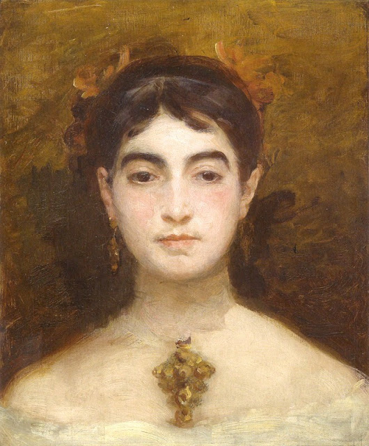 Self Portrait  by Marie Bracquemond             (1870)