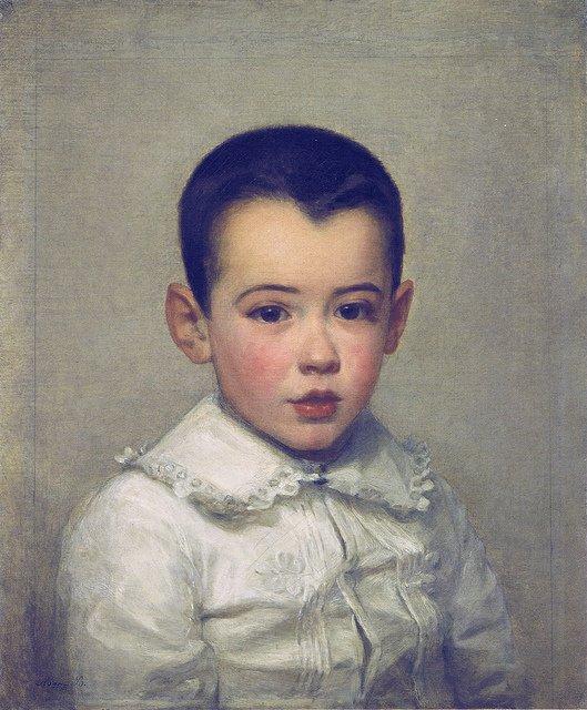 Pierre Bracquemond as child by Marie Bracquemond (1878)