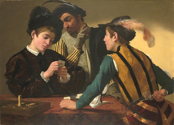 The Cardsharps by Caravaggio (c.1594)