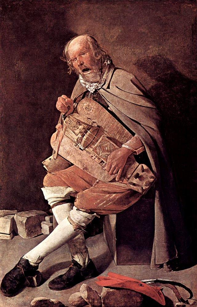 The Hurdy-Gurdy Player by Georges de la Tour (c.1630)
