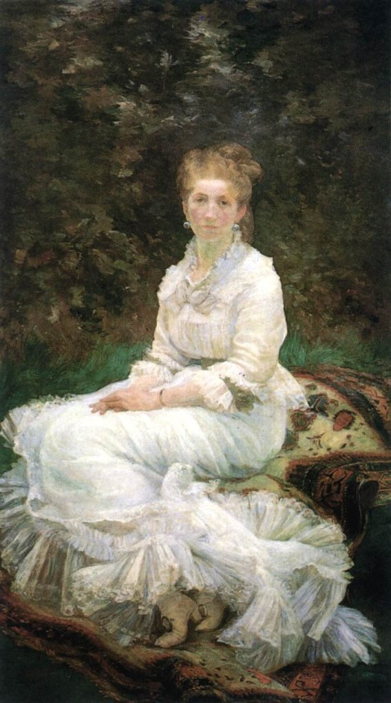 The Lady in White by Marie Bracquemond (1880)