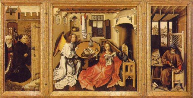 The Merode Altarpiece by Robert Campin (c.1432)