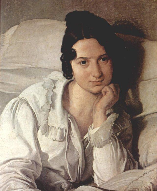 Carolina Zucchi (La Malata) by Francesco Hayez (1825)