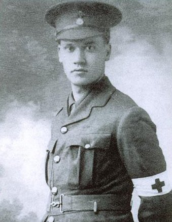 Nevinson in his Red Cross uniform