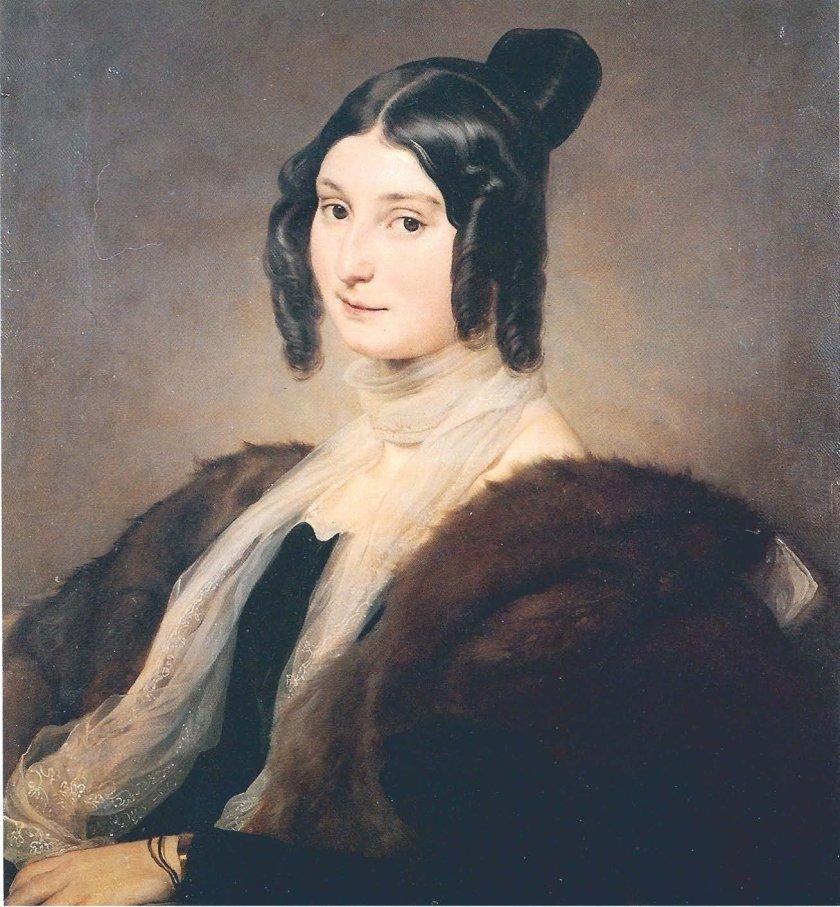Clara Mafei by Francesco Hayez (1825)