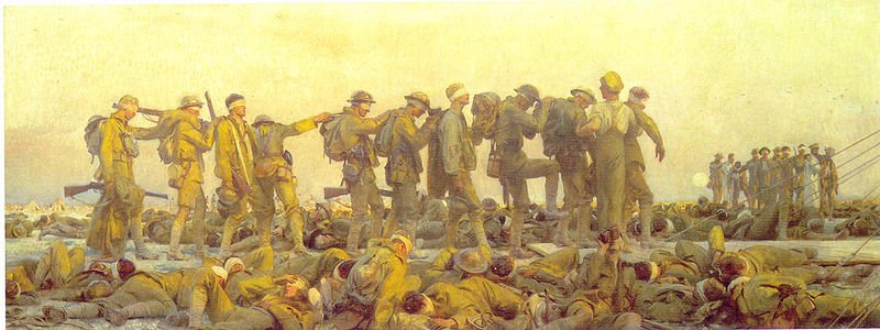 Gassed  by John Singer Sargent             (c.1919)