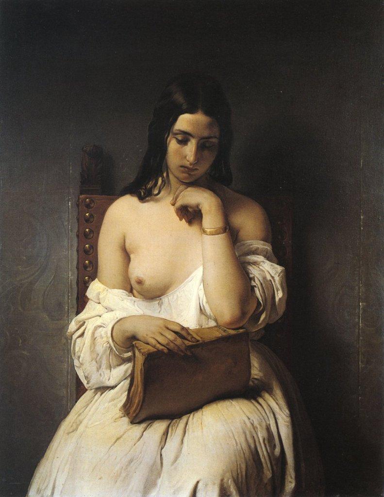 La Meditazione  by Francesco Hayez (1851)