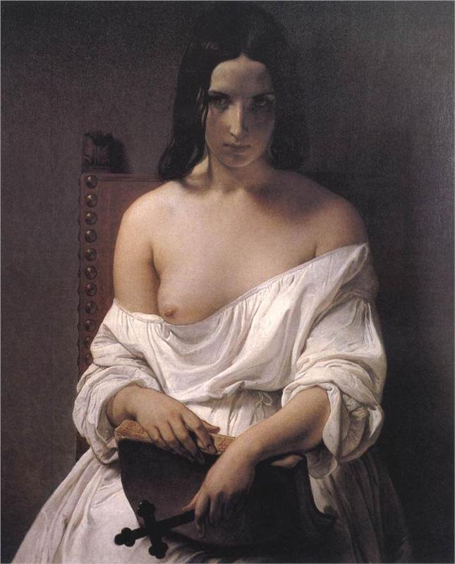 Meditation by Francesco Hayez (1851)