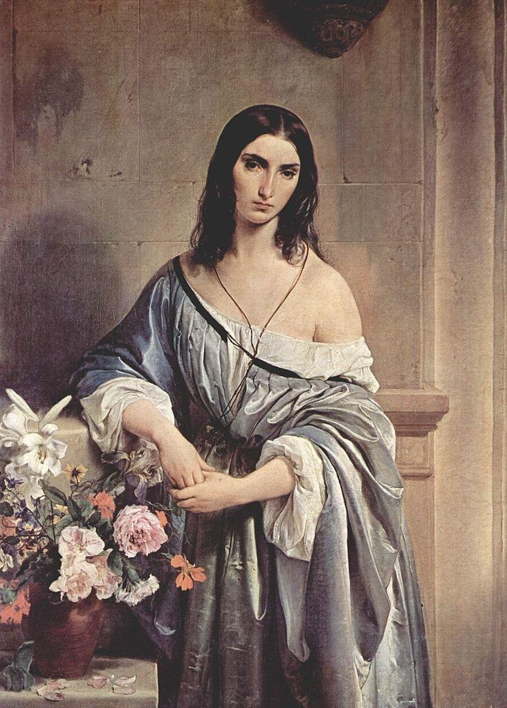 Melancholic Thoughts by Francesco Hayez (1842)