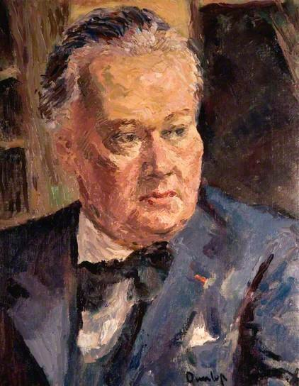 Portrait of C R W Nevinson by  Ronald Ossory Dunlop