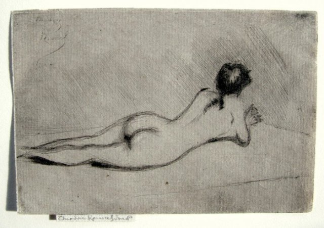 Study From the Nude of a Girl Lying Down by Théodore Roussel (1890)