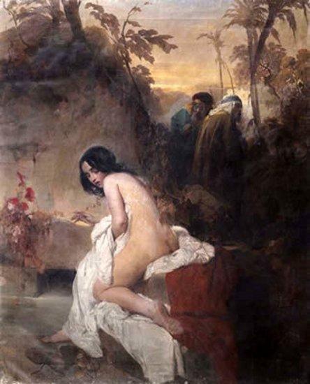 The Chaste Susanna by Domenico Induno