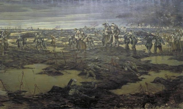 The Harvesting of the Battle by C R W Nevinson (1915)
