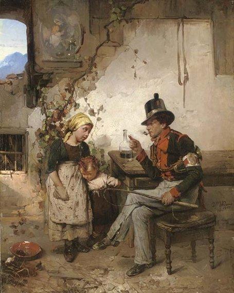 The Post Boy by Domenico Induno (1857)