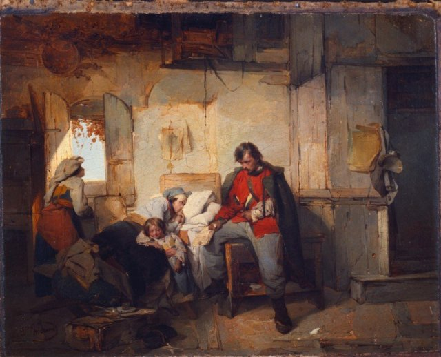 The Return of the Wounded Soldier by Domenico Induno (c.1854)