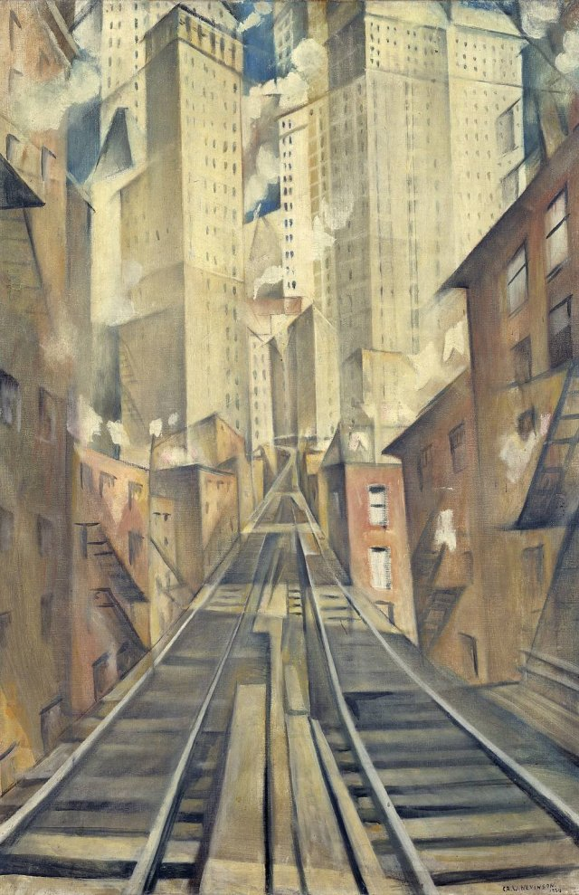 The Soul of the Soulless City (New York - an Abstraction) by C R W Nevinson (1920)