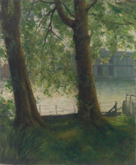 The Thames at Hurlingham by Théodore Roussel