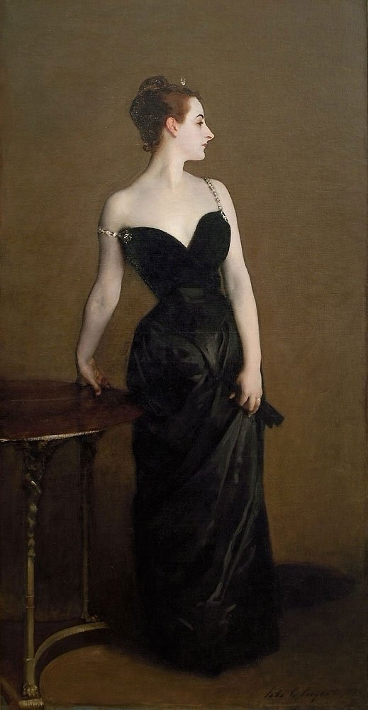 Madam *** by John Singer Sargent as exhibited at 1884 Salon