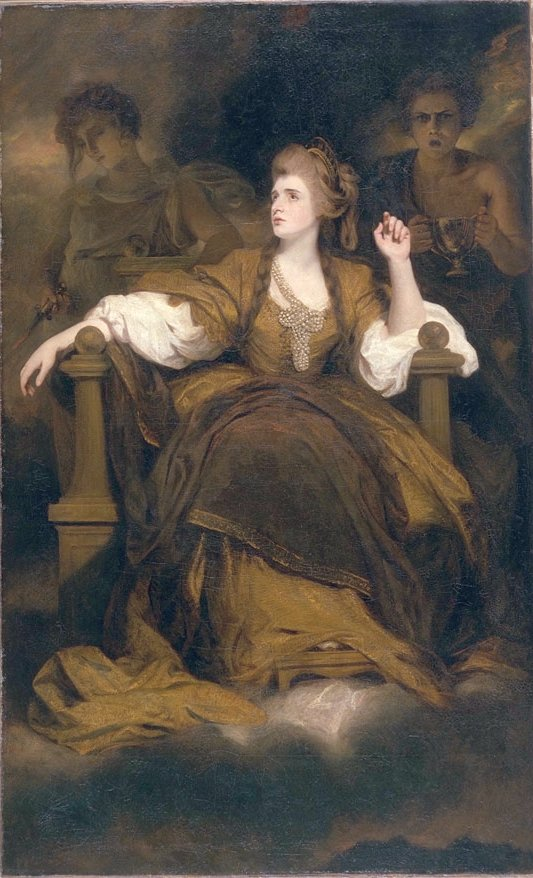Mrs. Siddons as the Tragic Muse by Sir Joshua Reynolds