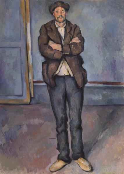Peasant Standing with Arms Crossed (Paysan debout, les bras croisés) by Cézanne (1895)
