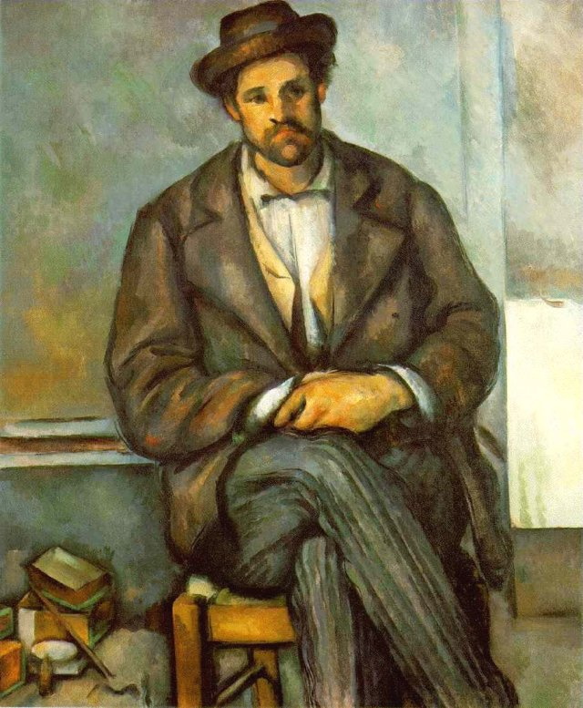 Seated Peasant by Cézanne (c.1896)