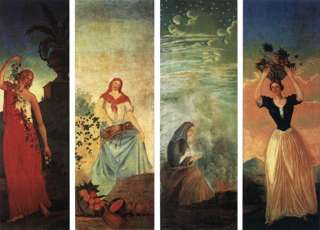 Spring, Summer, Autumn, Winter by Cézanne (1860-2)