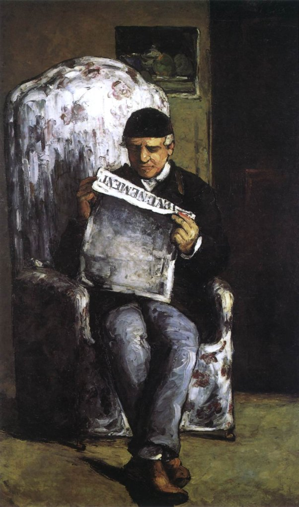 The Artist's Father, Reading L'Événement by Cézanne (1866)